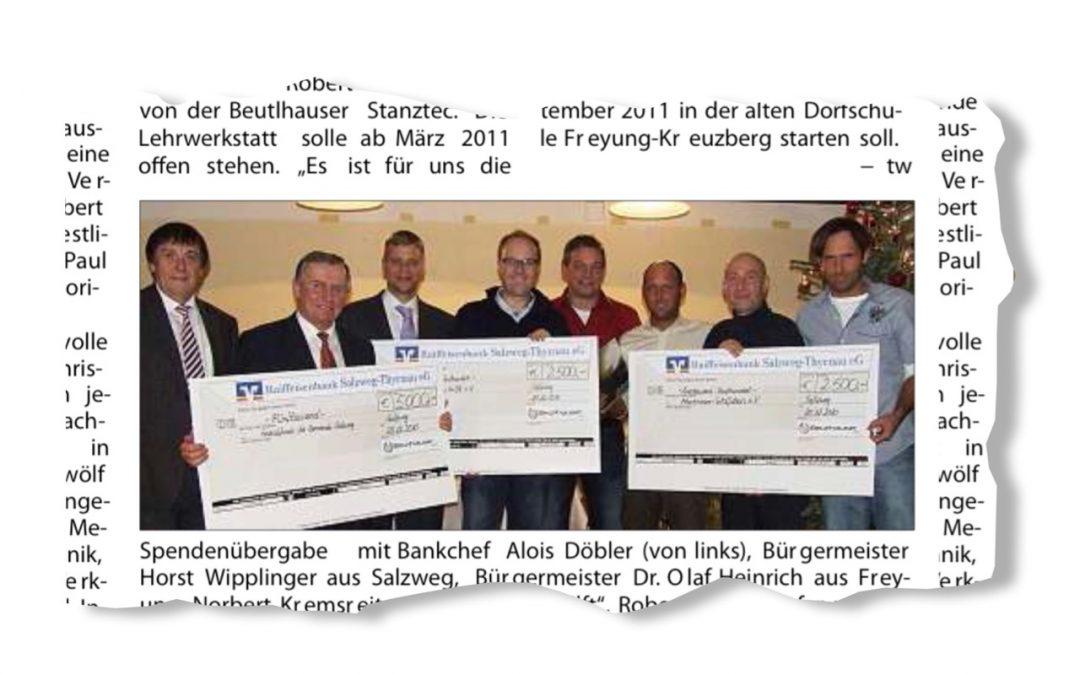 10.000 Euro für Bedürftige in der Region