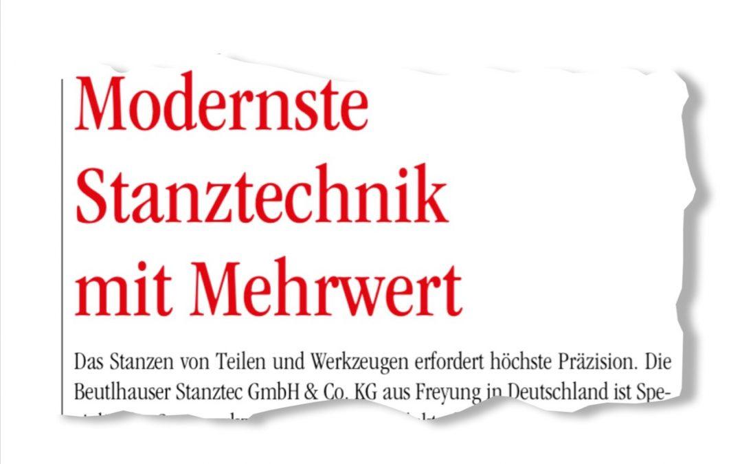 """""""Wirtschaftsforum"""": Modernste Stanztechnik mit Mehrwert"""